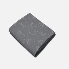[룰라바이] Bunny Grey Gauze Blanket 바니 그레이 거즈 블랭킷