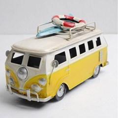 빈티지 느낌의 미니 서핑 철제 버스