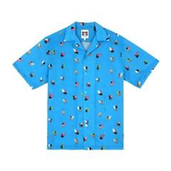 [SS18 NOUNOU] Surfer Pattern Rayon Shirts(Blue)_(621328)
