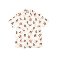 [SS18 NOUNOU] Hand Pattern Rayon Shirts(White)_(621325)