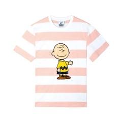 [SM18 Peanuts] Charlie Stripe T-Shirts(Pink)_(626280)