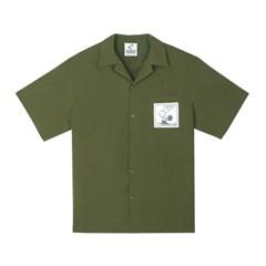 [SM18 Peanuts] Cotton S/S Shirts(Khaki)_(626267)