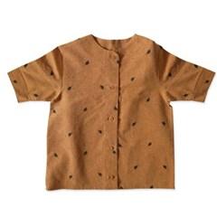 리프 셔츠 원피스