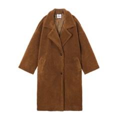 [FW18 Peanuts] Snoopy Boa Coat (Brown)_(640750)