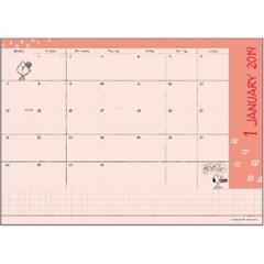 스누피 B6 Monthly 다이어리_핑크