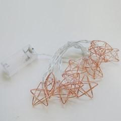 철제 LED 별 가랜드 조명