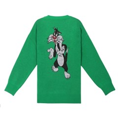 [SS19 STEREO X LOONEY TUNES] Jacquard Knit(Green)_(666087)