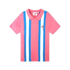 [SS19 Pink Panther] Stripe Collar S/S Knit(Pink)_(673244)