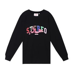 [FW19 Pink Panther] Stereo Logo Long Sleeve(Black)_(703989)