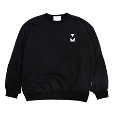 (UNISEX)950g Heavy Embroidery Sweatshirt(BLACK)