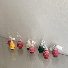 미니 트리 캔들 4scent 4color