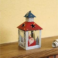 산타와 눈사람 하우스 캔들홀더 캔들조명