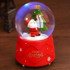 크리스마스 산타 14곡 음악 자동 워터볼 멜로디박스