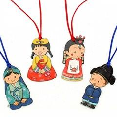 전통의상나무목걸이-4종세트