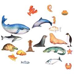 해양 동물 물고기 인형 고래 외 20종 세트 누리과정 유치원교구 BSET
