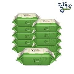 [달토랑]미세플라스틱 없는 대나무물티슈 밤부베이비 70매10팩캡형