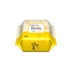 [달토랑]미세플라스틱 없는 대나무물티슈 밤부패밀리 20매32팩리필형