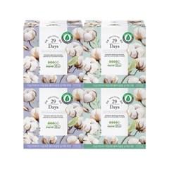 29Days 리얼 코튼 유기농 생리대 중형2팩 + 대형 2팩 세트