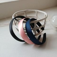 classic satin hairband 中 (3colors)