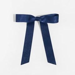 romantic ribbon hair pin (NAVY)