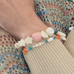 pastel wood bracelet