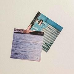 photo label postcard