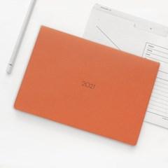 [2021날짜형]21 Monthly planner_orange,navy