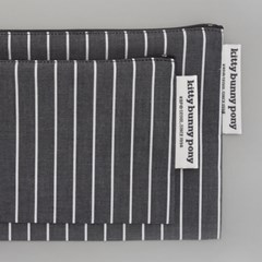 gray stripe pouch