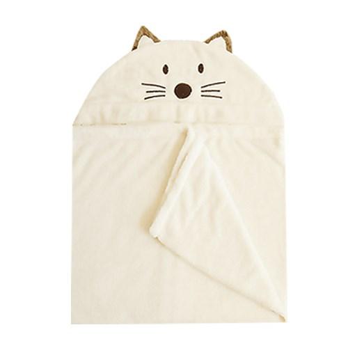 [밀리언달러베이비]베이비 후드타올 고양이(목욕&비치타올&담요)