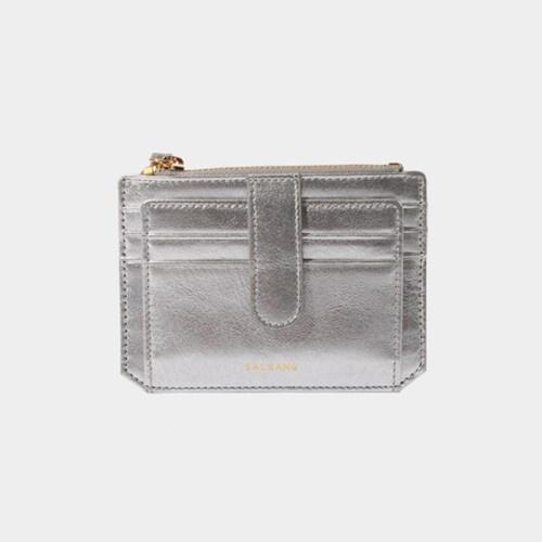 [미니태슬증정]Dijon 301S Flap mini Card Wallet silver