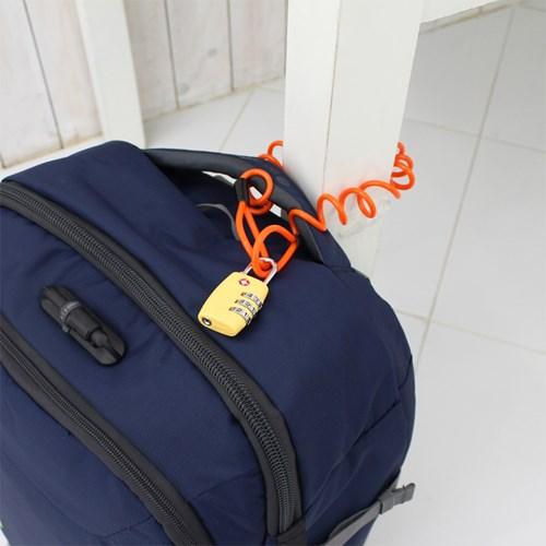 [TCUBE] TSA 3다이얼 자물쇠 + 코일 안전케이블 - 1.2M