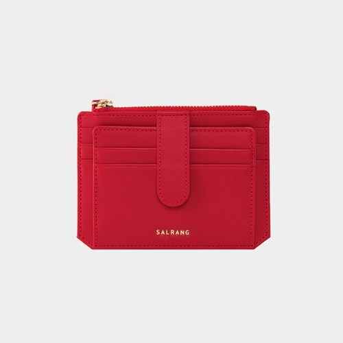 [태슬증정][살랑]Dijon 301S Flap Card Wallet cherry red