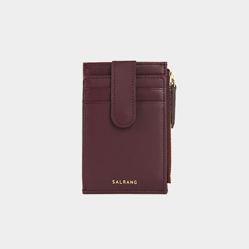 [태슬증정]살랑]Dijon 201S Flap mini Card Wallet burgundy