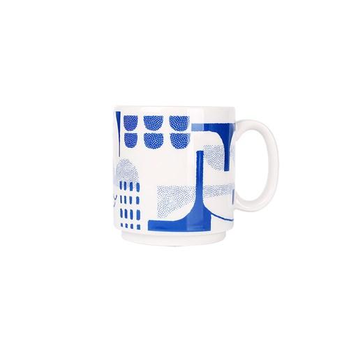 Night sea bridge mug