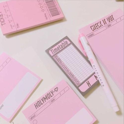 HOLYMOLY pink memo