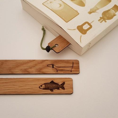 Namo북마크/ 나무 책갈피/ 자작나무,호두나무/이니셜 책갈피