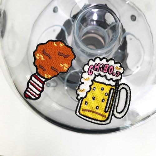 치맥세트(치킨 맥주) 와펜스티커