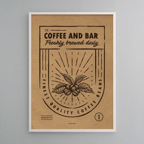 유니크 크라프트 인테리어 디자인 포스터 M 커피와 베이커리 8종