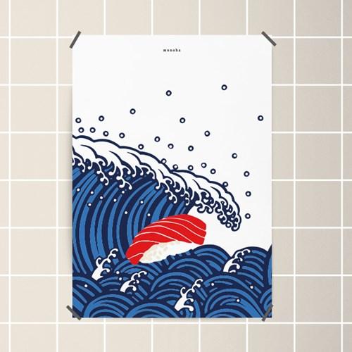 유니크 일본 인테리어 디자인 포스터 M 일본음식 일식 18종 모음 택1