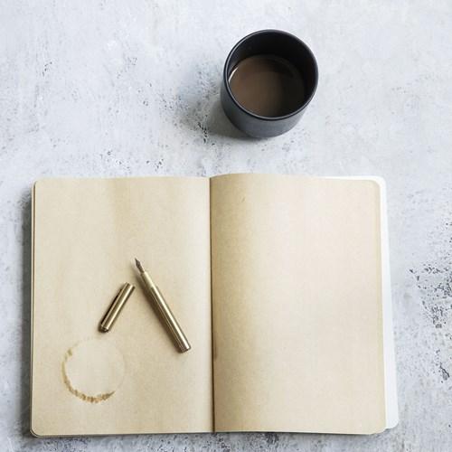Fountain pen w.black ink, Brass