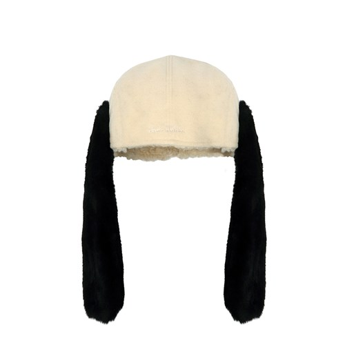 [FW18 NOUNOU] Dog Face Trapper Hat(Ivory)_(655373)