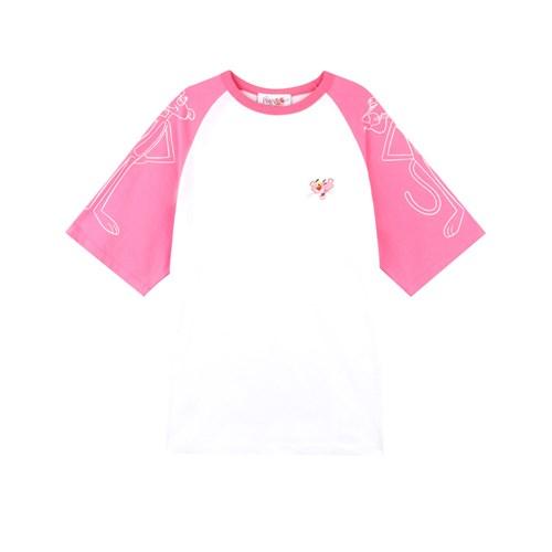 [SS19 Pink Panther] PP Raglan T-Shirts(Pink)_(673238)