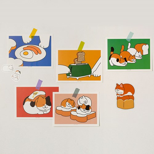 아기 식빵뚱냥 엽서 5종 세트