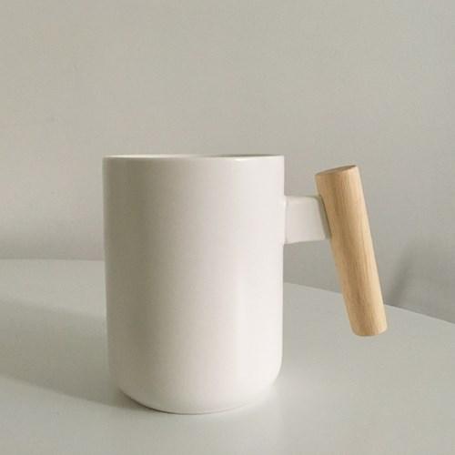 내츄럴우드 무광머그잔 (커피잔, 홈카페용)