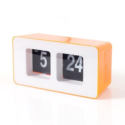 인테리어 시계 저소음 플립 사각 탁상시계 GC001_OR