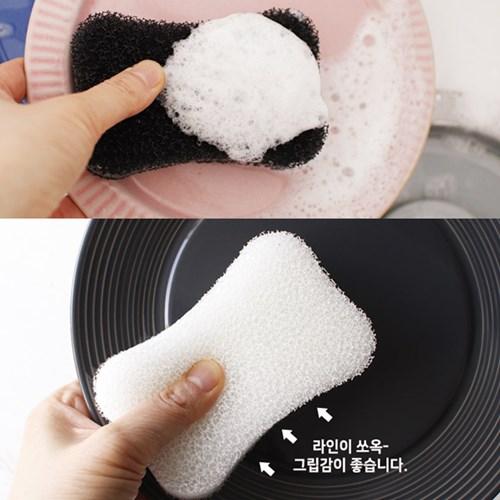 심플 버블 수세미 스펀지 (2개세트)