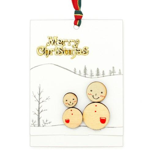 크리스마스 소원카드(5인세트)-눈사람