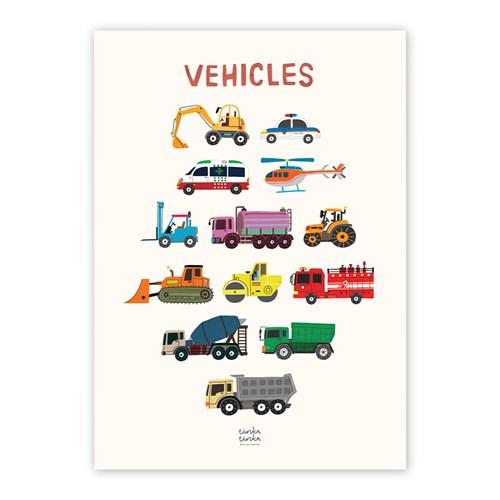 VEHICLES 자동차 방수 포스터 (A3)