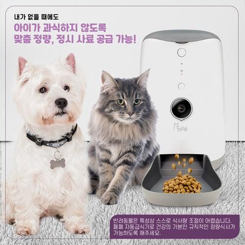 페페 강아지 고양이 카메라 자동급식기