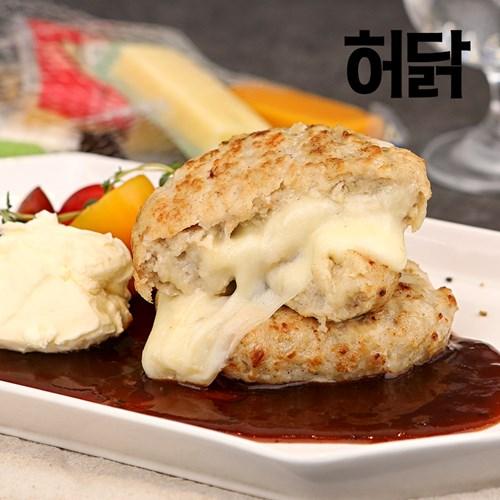 [허닭] 닭가슴살 함박스테이크 치즈퐁듀 100g 1팩